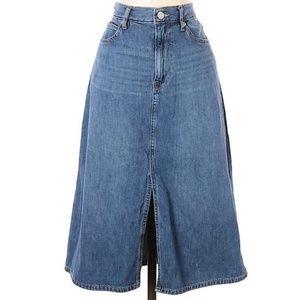 GAP High Waisted Festival A Line Jean Skirt Sz 10
